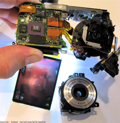 camera disassembled
