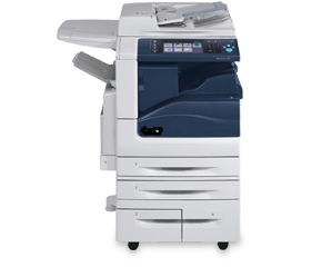 A Xerox Workcentre copy/scan/print station